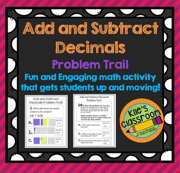 Add and Subtract Decimals Problem Trail - Add Movement to
