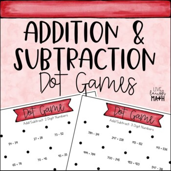 Add and Subtract Dot Games