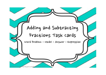Add and Subtract Fractions Tape Diagrams