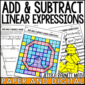 Add and Subtract Linear Expressions Activity Pack