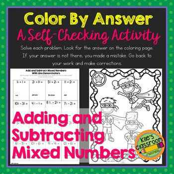 Add and Subtract Mixed Numbers with Like Denominators Colo