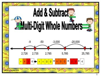 Add and Subtract Multi-Digit Whole Numbers
