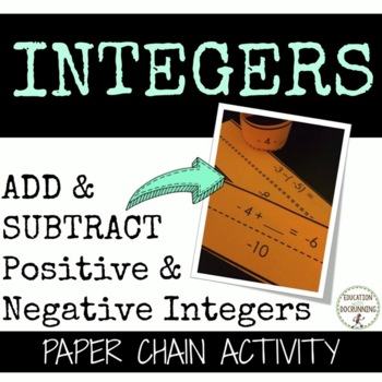 Add and Subtract Positive and Negative Integers Paper Chai