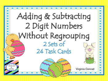 Add and Subtract Two Digit Numbers Without Regrouping--Eas