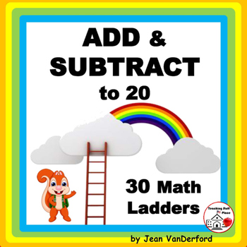 Add and Subtract to 20 | PRACTICE | on Ladders | Early Fin