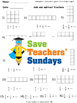 Add and subtract fractions plans, worksheets (rectangular