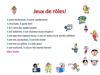Teaching Resources. Add drama to your French role plays!