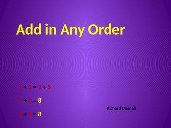 Add in any order