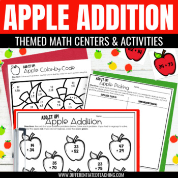 Differentiated Addition Math Center {Apple-Themed} for 2nd