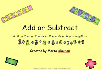 Add or Subtract - FREE SAMPLE