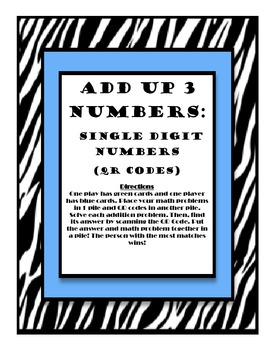 Add up 3 numbers with QR codes