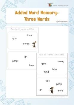 Added Word Memory (Pre-K)