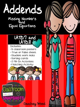 Addends - Missing Numbers and Equal Equations