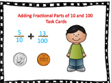 Adding 10s and 100s fractions task cards