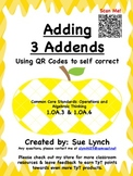 Adding 3 Addends Numbers 1.OA.3 & 1.OA.6 with QR Codes ind