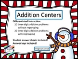 Adding 3 Digit Numbers--With and Without Regrouping--Snowm