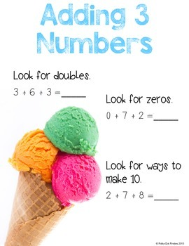 Adding 3 Numbers {FREE POSTER}