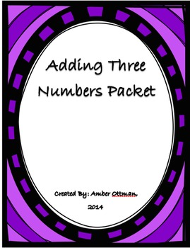 Adding 3 Numbers Packet
