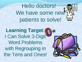Adding 3-digit Numbers Regrouping Tens and Ones PowerPoint