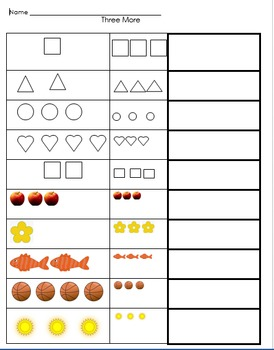 Adding 3 more with quantities and objects