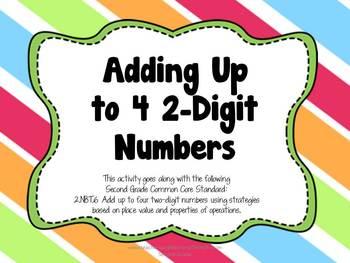 Adding 4 2-Digit Numbers, 2.NBT.6