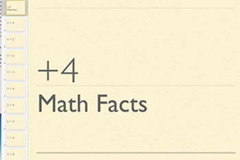 Adding 4 Math Fact Keynote (using doubles and doubles plus 1)