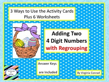 Adding 2 Four Digit Numbers -- task cards, slide show, and