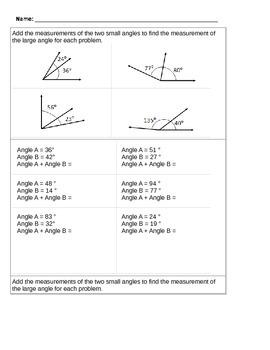 Adding Angle Measures