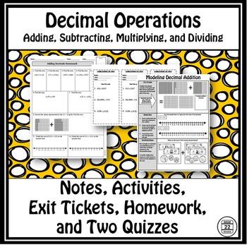 Decimals Operations Lessons