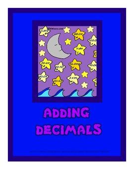 Adding Decimals 5th Grade Common Core File Folder Center /