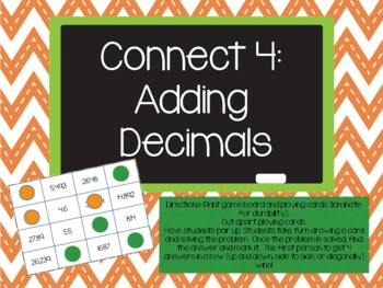 Adding Decimals Game