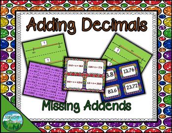 Adding Decimals - Missing Addends