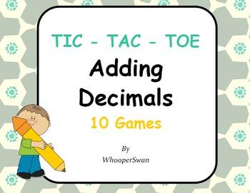 Adding Decimals Tic-Tac-Toe