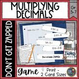 Multiplying Decimals ZAP Math Game