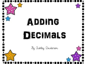 Adding Decimals task cards