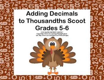 Adding Decimals to Thousandths-CCSS.Math.Content.5.NBT.B.7
