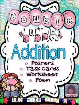 Adding Doubles-Addition Poem, Posters, Task Card/Flashcard