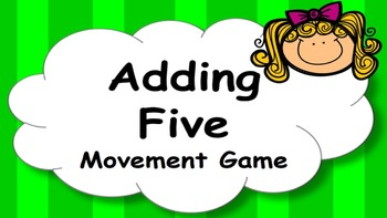 Adding Five Addition Facts Mental Maths Game, Brain Break