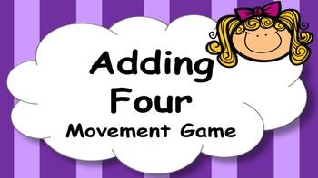 Adding Four Addition Facts Mental Maths Game, Brain Break