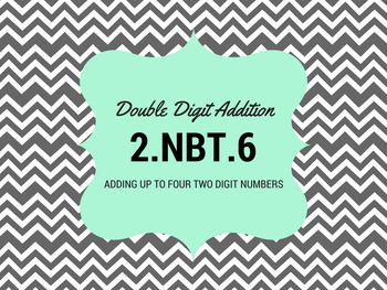 Adding Four Two Digit Numbers