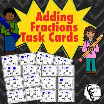 Adding Fraction Task Cards