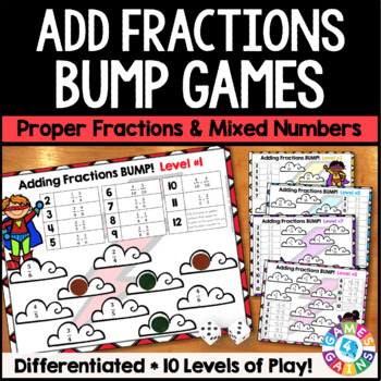 Adding Fractions Activity: 10 Differentiated Adding Fracti