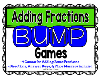 Add Fractions Games with Answer Keys {4 Differentiated Games}
