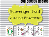 Adding Fractions (Common Denominators) Scavenger Hunt