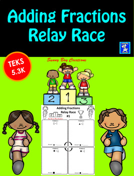 Adding Fractions Relay Race