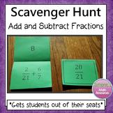 Adding Fractions Scavenger Hunt (Like and  Unlike Denominators)