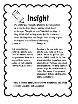 Adding Insight to your Writing!