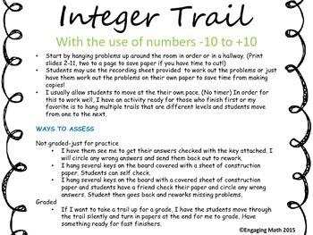 Adding Integers -10 to +10