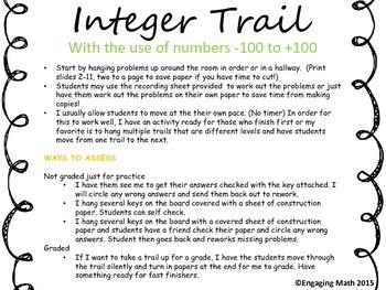 Adding Integers -100 to +100
