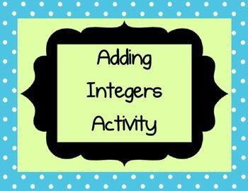 Adding Integers Activity Game